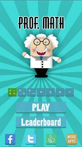 Screenshot Prof. Math - an addictive arithmetic game iPhone iPad Game 1